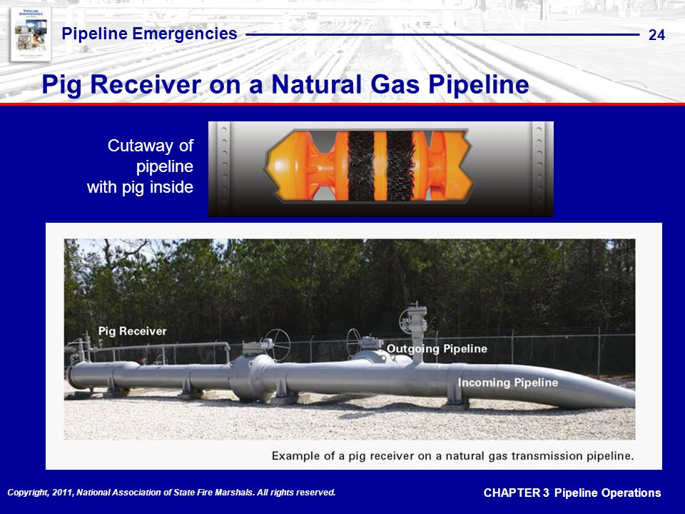 Pig Receiver on a Natural Gas Pipeline
