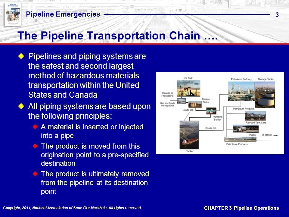 The Pipeline Transportation Chain ….