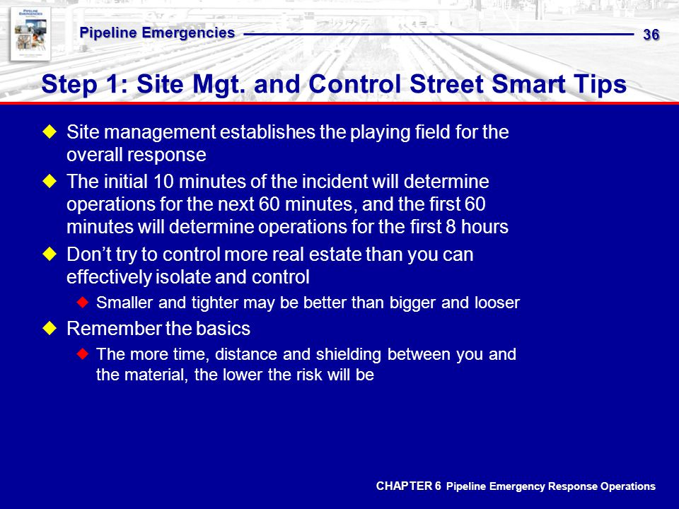 Step 1: Site Mgt. and Control Street Smart Tips