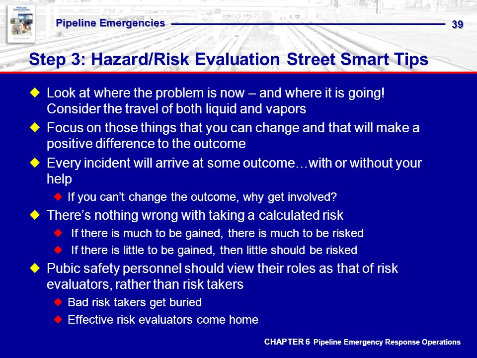 Step 3: Hazard/Risk Evaluation Street Smart Tips