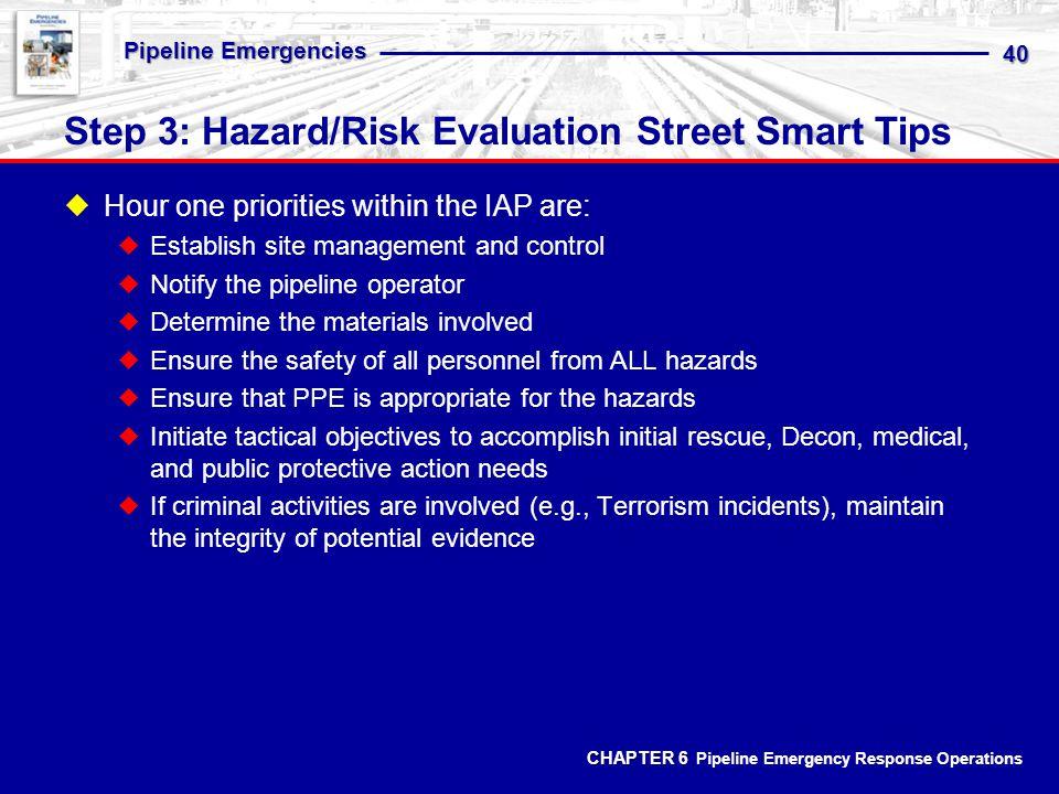 Step 3: Hazard/Risk Evaluation Street Smart Tips