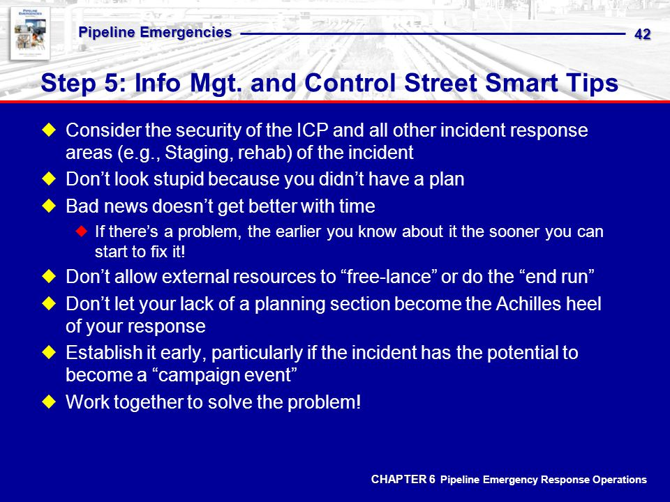 Step 5: Info Mgt. and Control Street Smart Tips