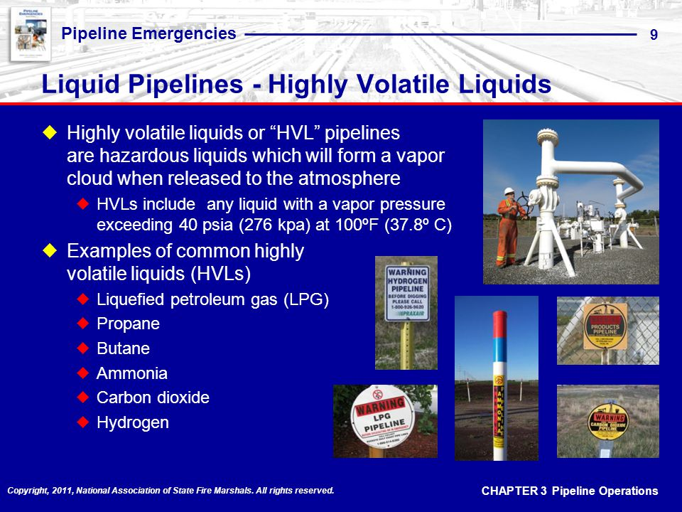 Liquid Pipelines - Highly Volatile Liquids