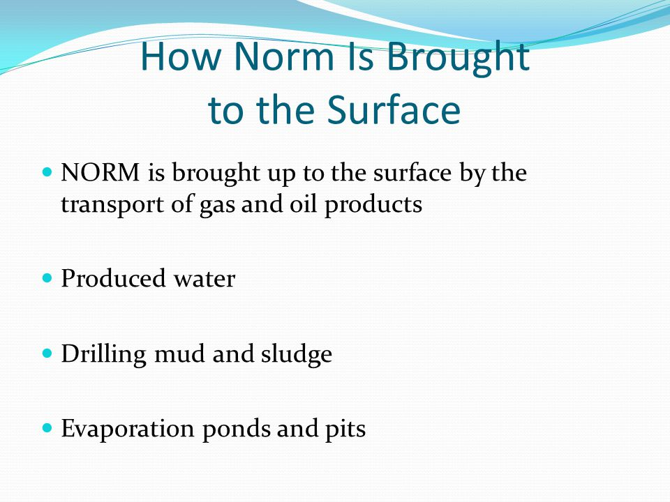 How Norm Is Brought to the Surface