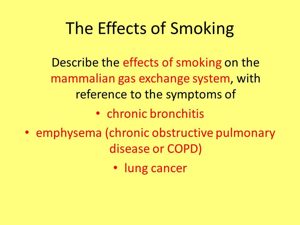 emphysema (chronic obstructive pulmonary disease or COPD)