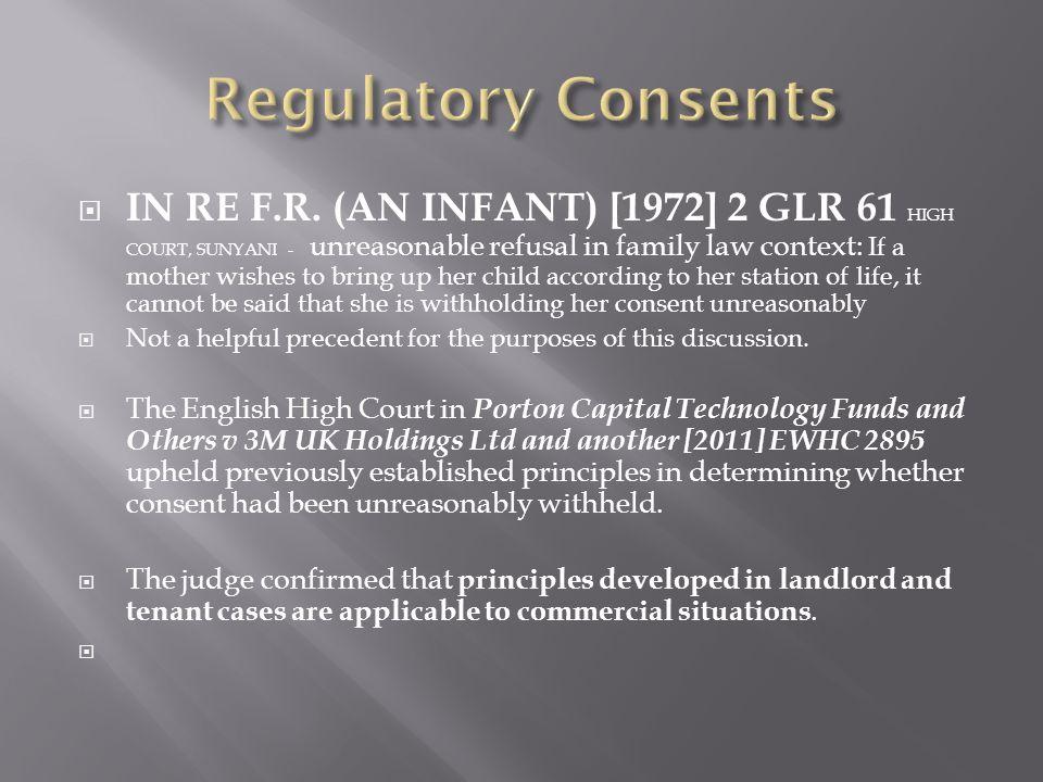 Regulatory Consents