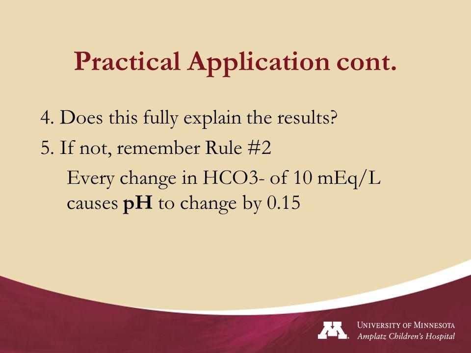 Practical Application cont.