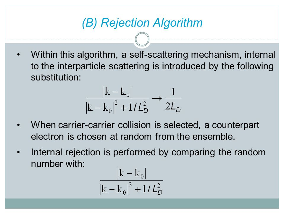 (B) Rejection Algorithm