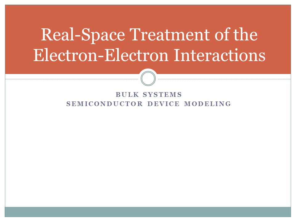 Real-Space Treatment of the Electron-Electron Interactions