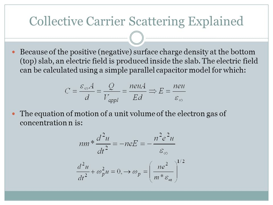 Collective Carrier Scattering Explained