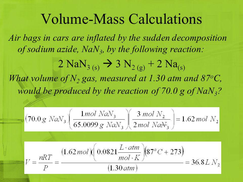 Volume-Mass Calculations