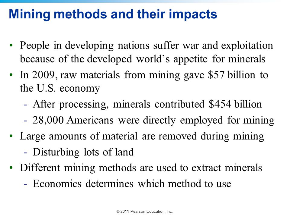 Mining methods and their impacts