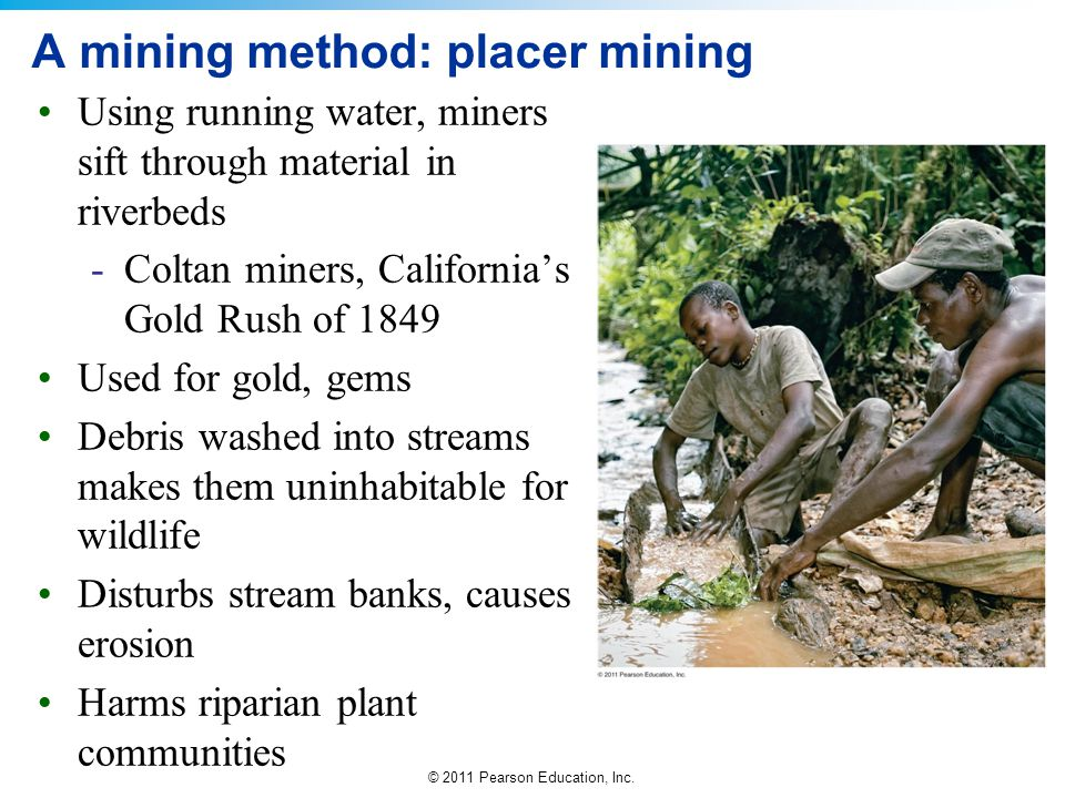 A mining method: placer mining