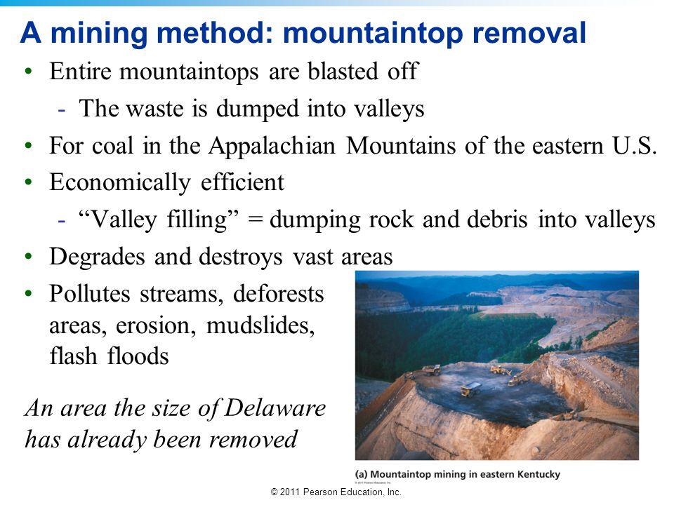 A mining method: mountaintop removal