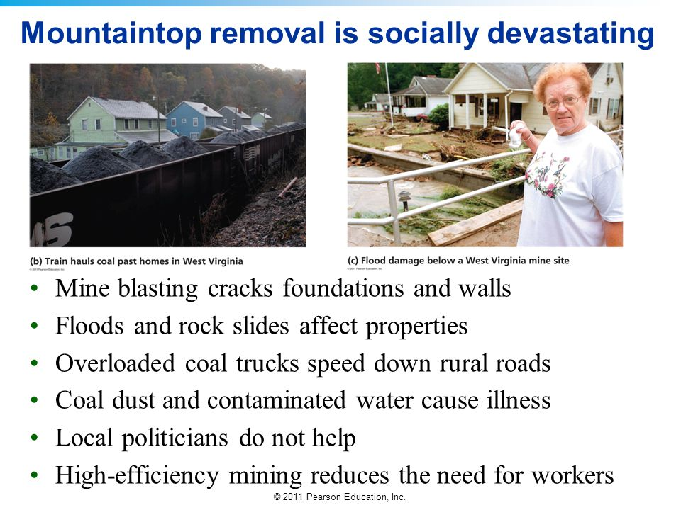 Mountaintop removal is socially devastating