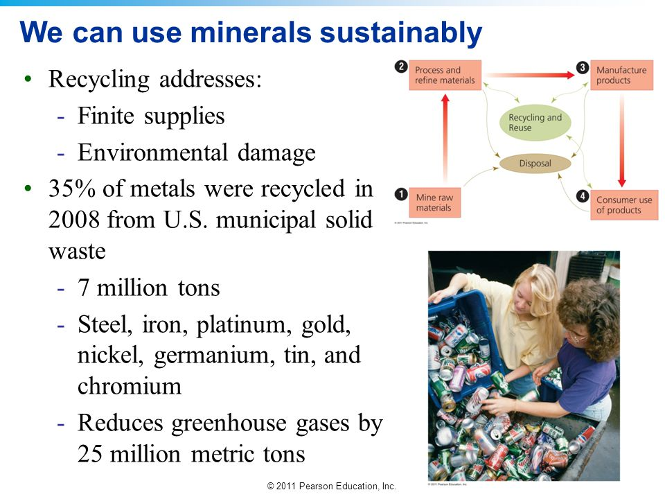 We can use minerals sustainably