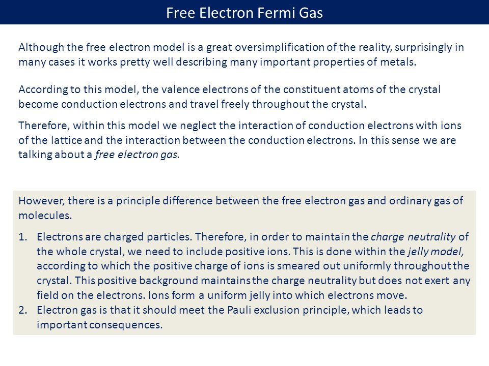 Free Electron Fermi Gas