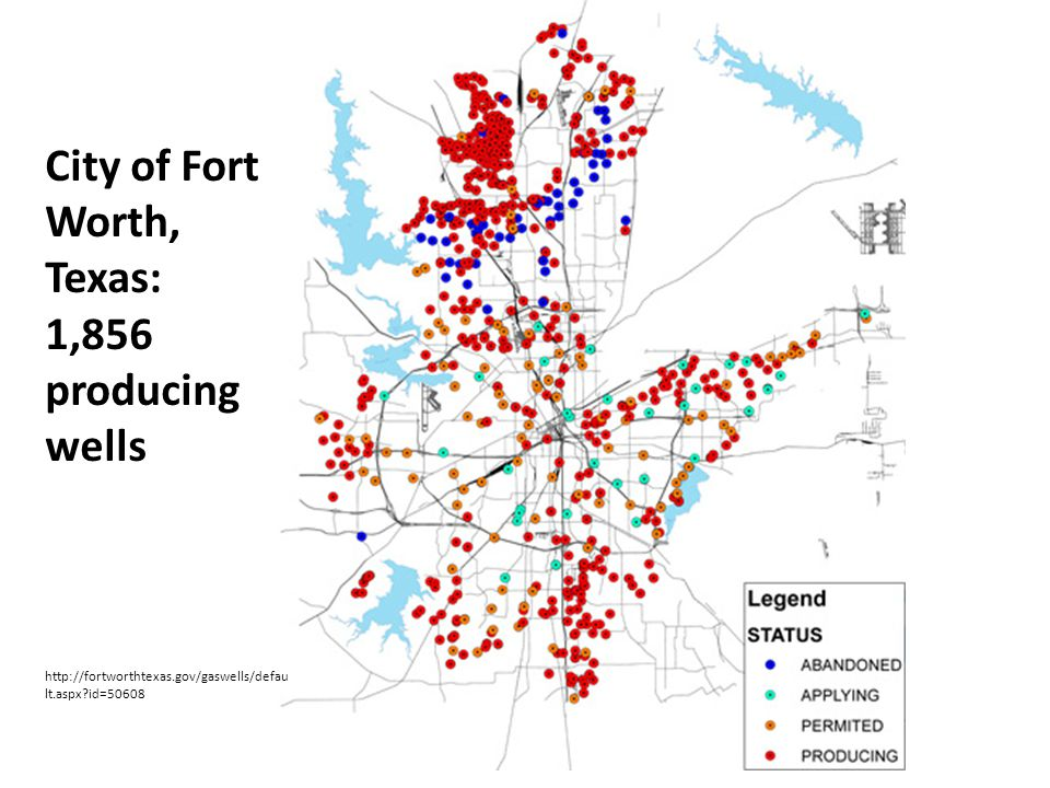 City of Fort Worth, Texas: 1,856 producing wells