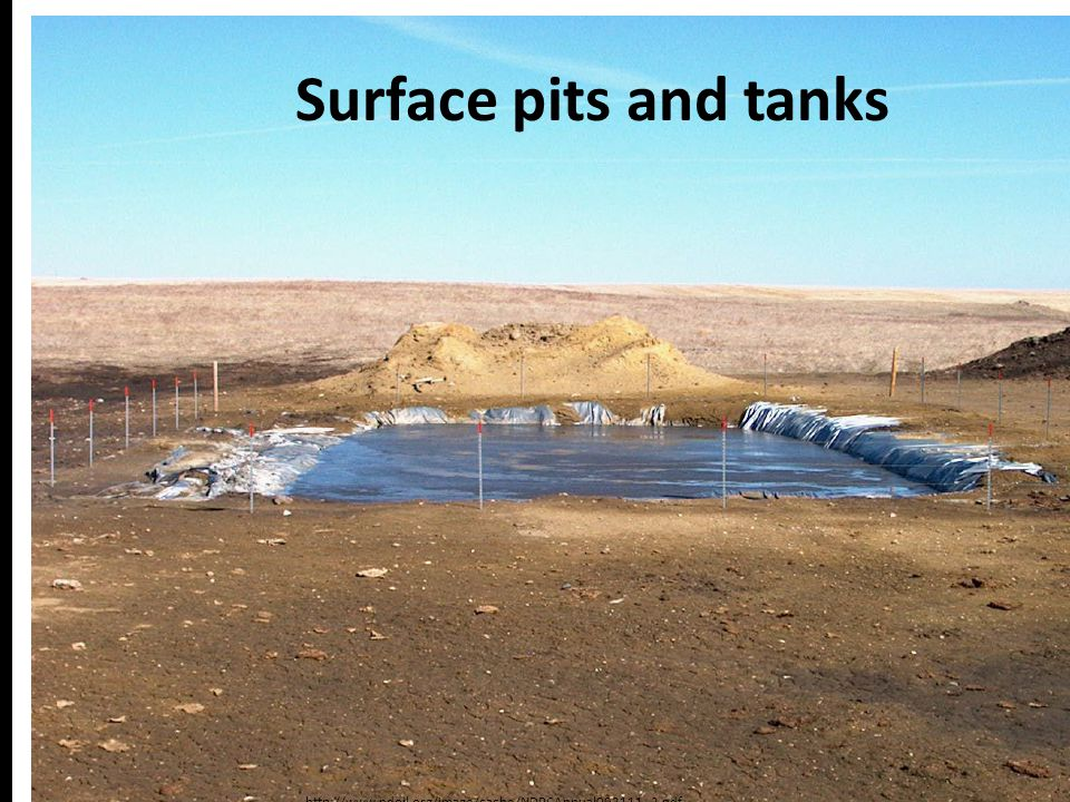 Surface pits and tanks