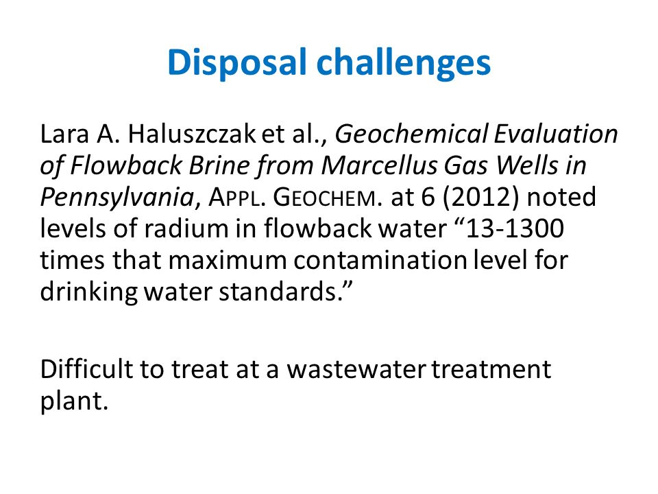 Disposal challenges