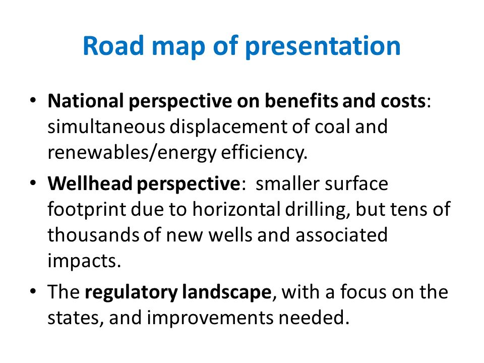 Road map of presentation