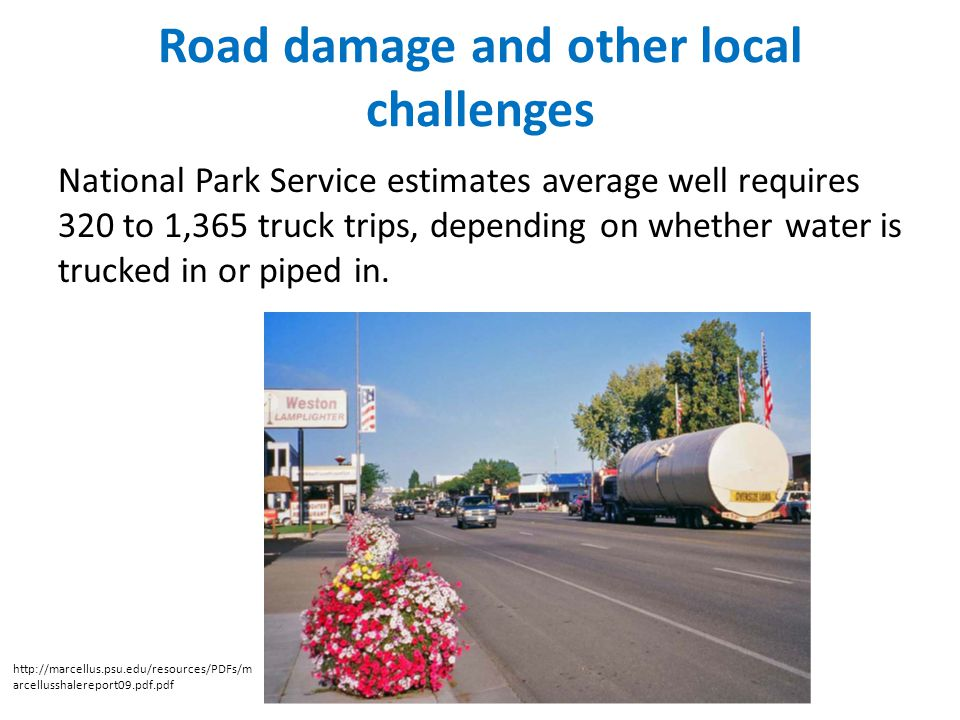 Road damage and other local challenges