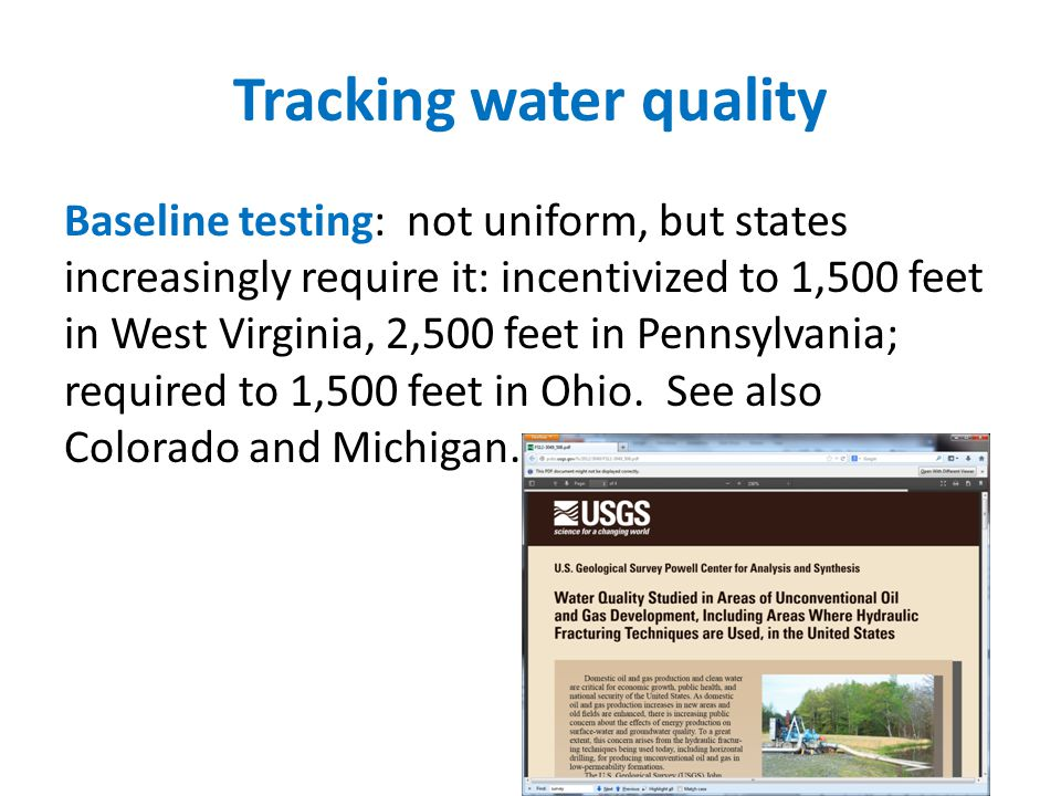 Tracking water quality