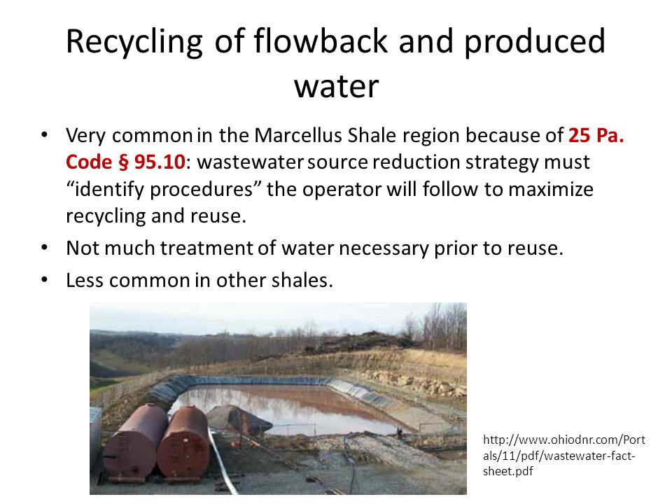 Recycling of flowback and produced water