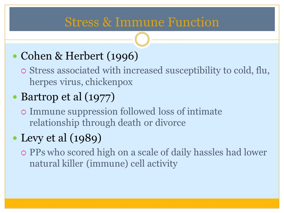 Stress & Immune Function