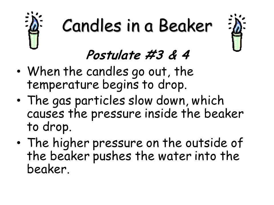 Candles in a Beaker Postulate #3 & 4