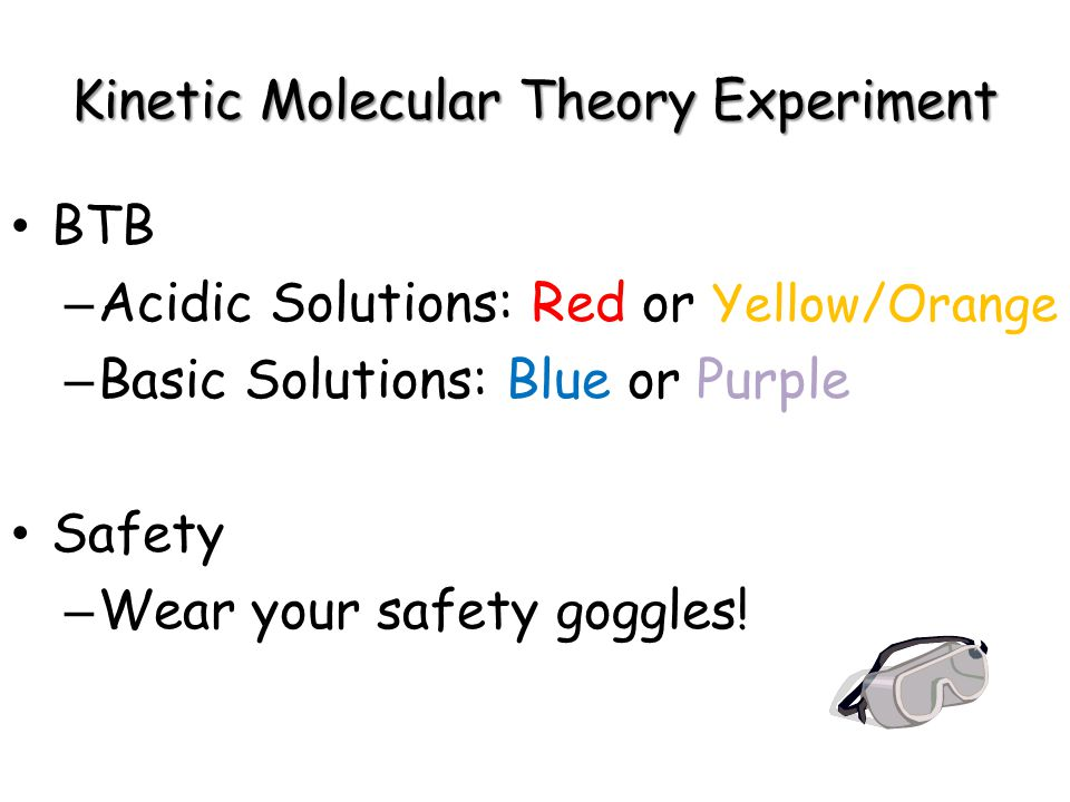 Kinetic Molecular Theory Experiment