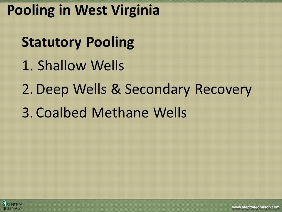 Pooling in West Virginia