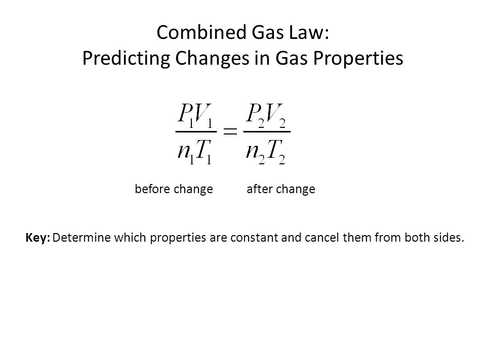 Predicting Changes in Gas Properties