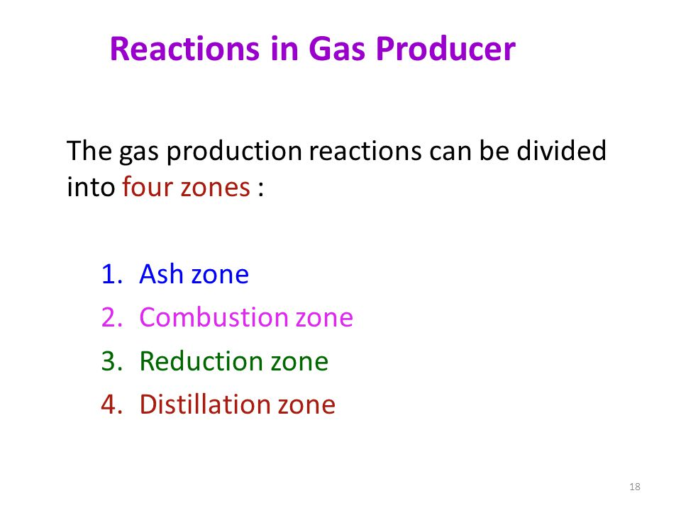 Reactions in Gas Producer