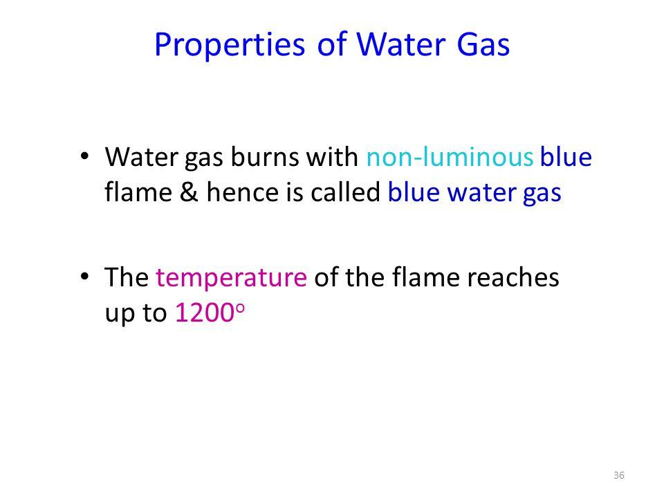 Properties of Water Gas