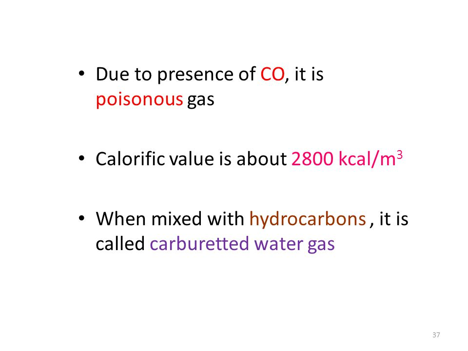 Due to presence of CO, it is poisonous gas