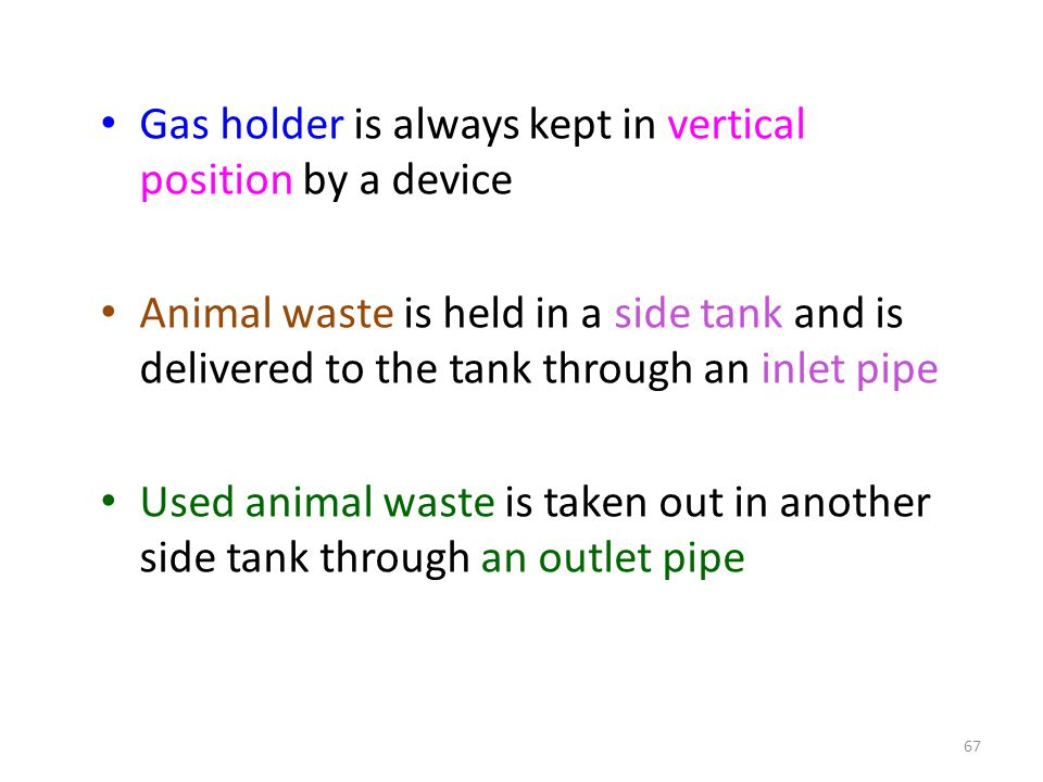Gas holder is always kept in vertical position by a device