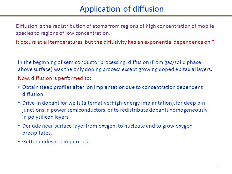 Application of diffusion