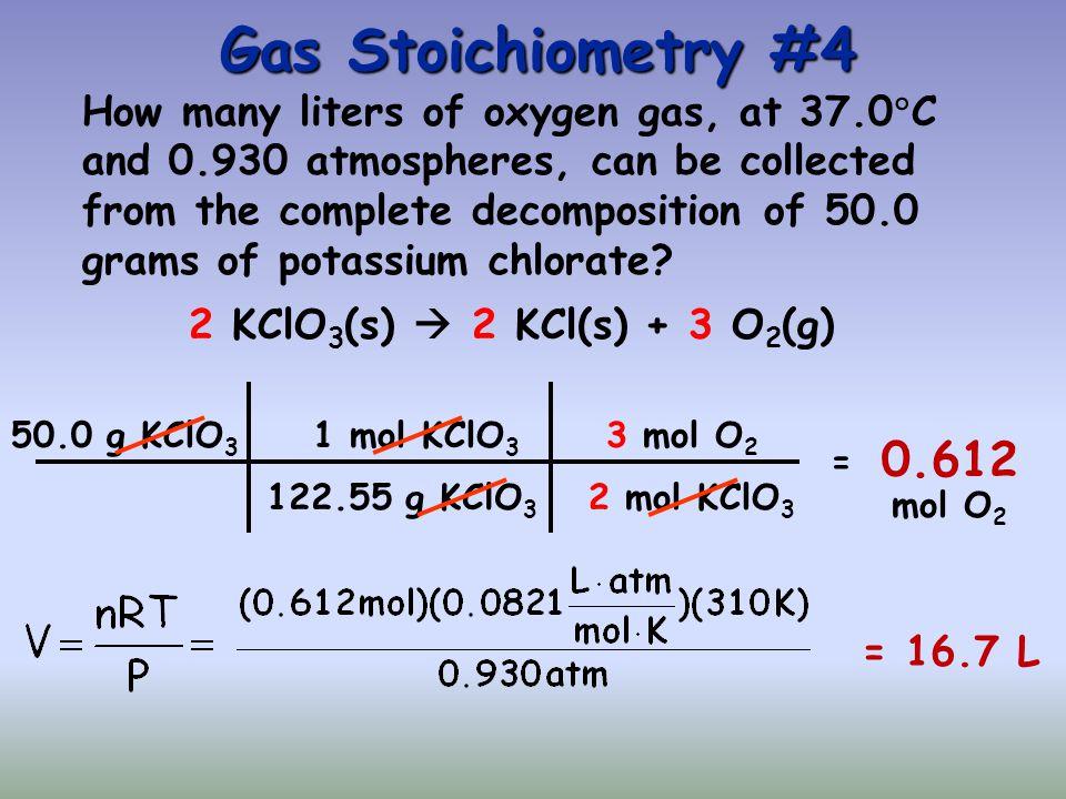 Gas Stoichiometry #4
