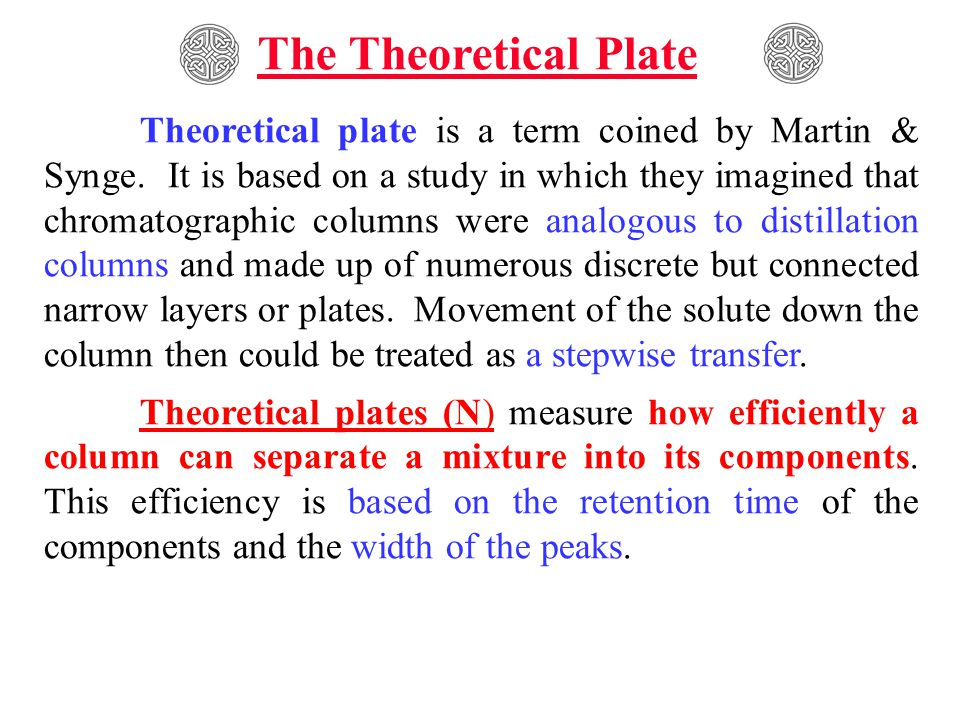The Theoretical Plate