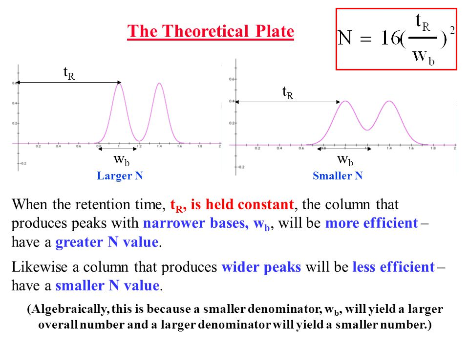 The Theoretical Plate tR tR wb wb