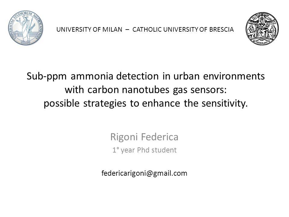 Rigoni Federica 1° year Phd student federicarigoni@gmail.com
