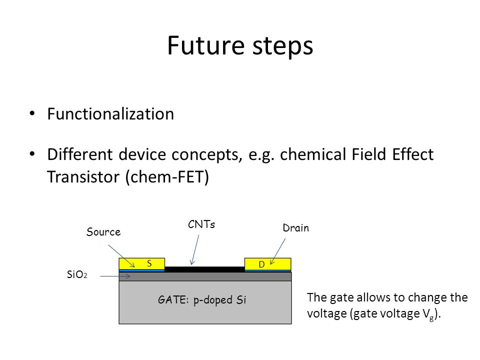 Future steps Functionalization