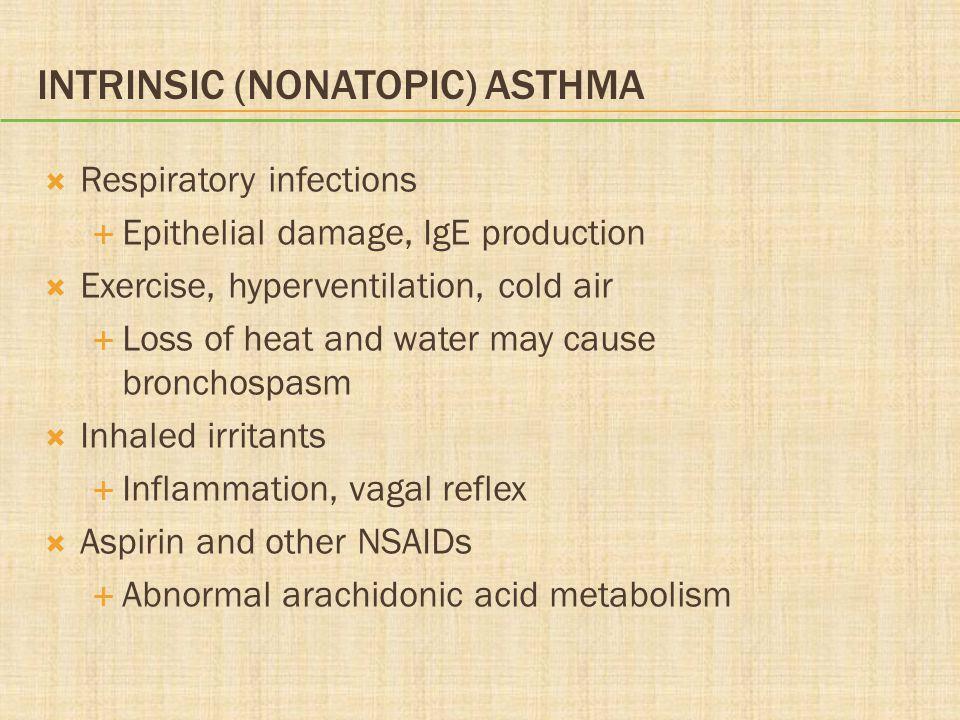Intrinsic (Nonatopic) Asthma