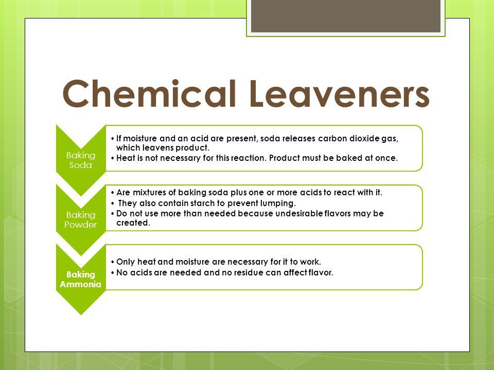 Chemical Leaveners Baking Soda Baking Powder Baking Ammonia