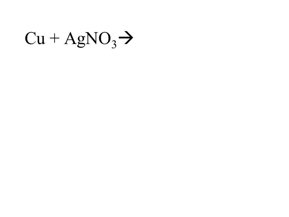 Cu + AgNO3