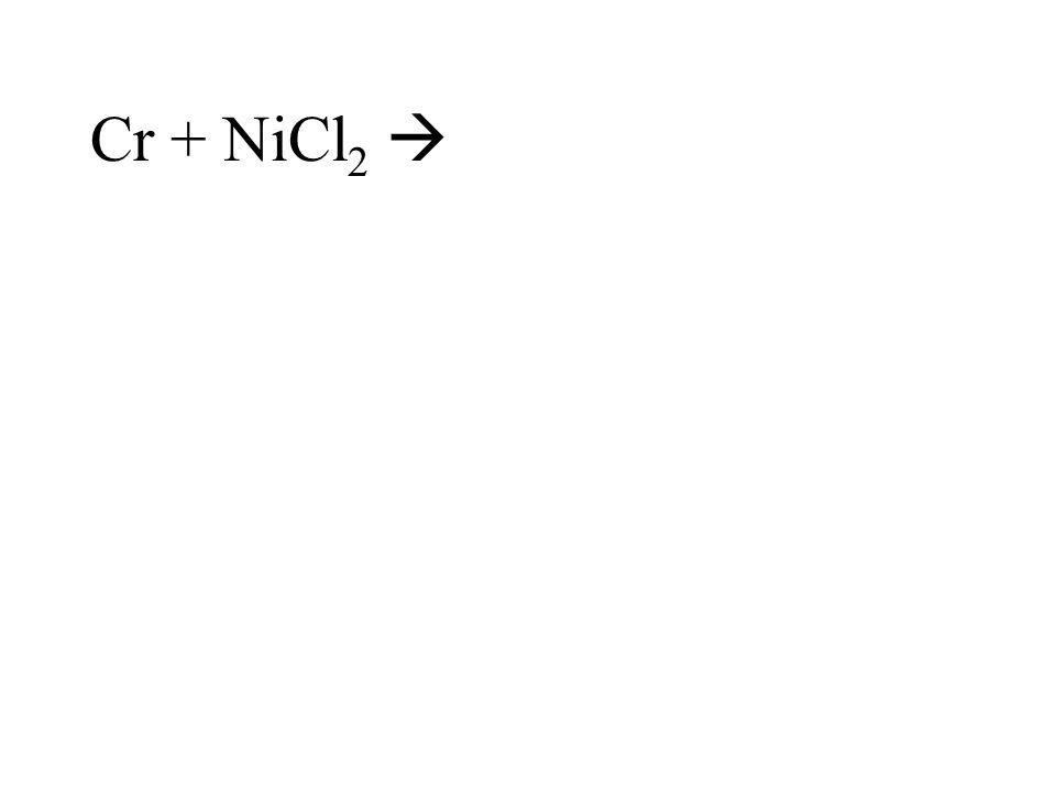 Cr + NiCl2 