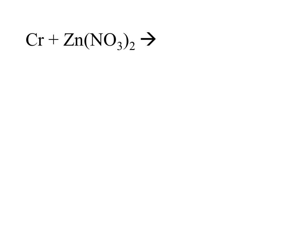 Cr + Zn(NO3)2 