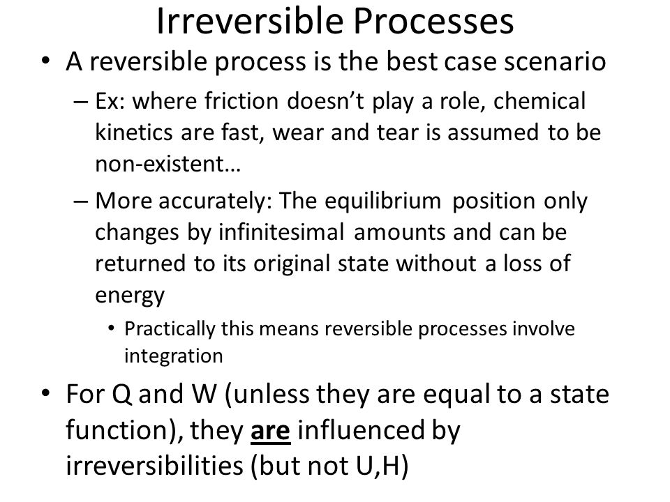 Irreversible Processes