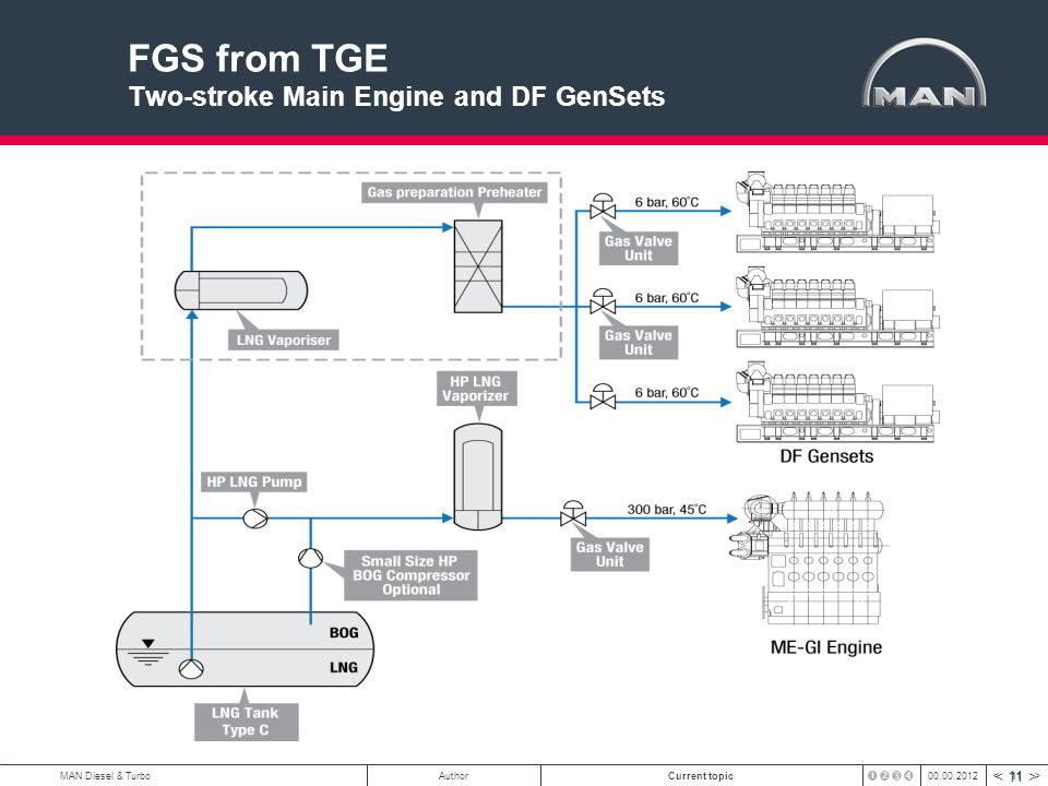 FGS from TGE Two-stroke Main Engine and DF GenSets